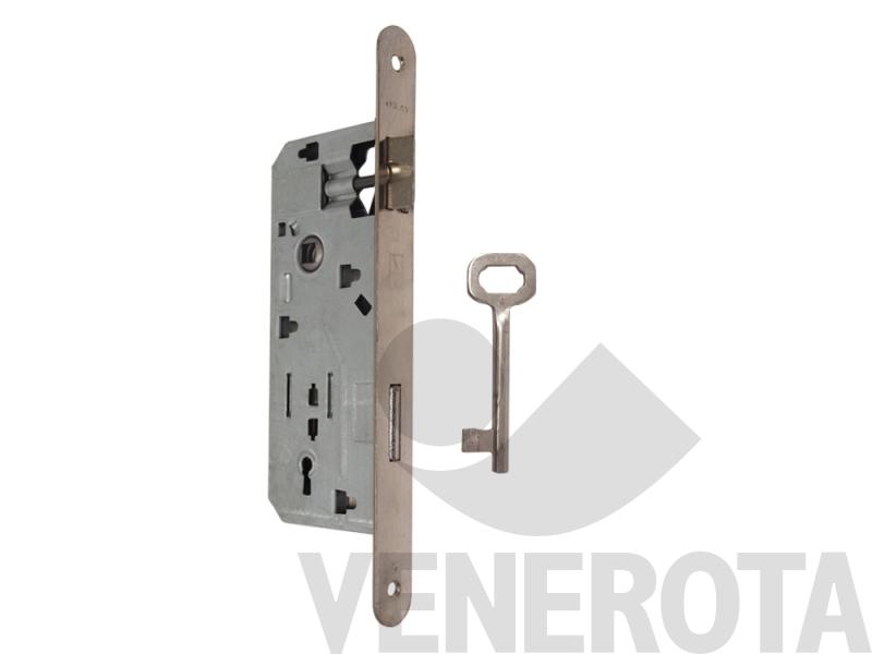 Serratura patent okay con chiave bordo tondo frontale - Serrature per porte interne prezzi ...