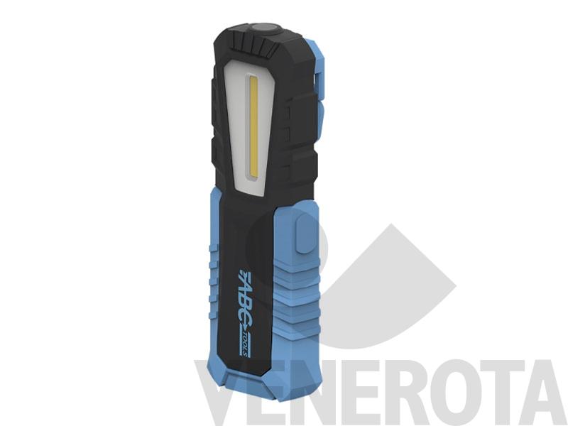 Lampada portatile a led ricaricabile 250 lumen ip54 abc tools mag